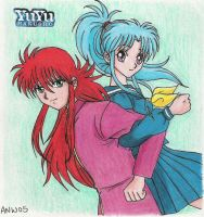 Kurama and Botan by Kohaku-in-chaos