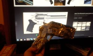 Vash Cosplay Project: The Peacemaker Gun 1 by cattamer