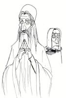 Sketch Dumbledore by schwarzdrossel