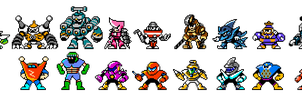 Robot Masters are Reborn!(Upper Sprites) by hansungkee