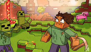 Minecraft Art by GeirSaeterbakken