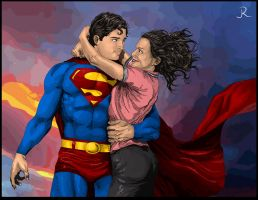 Superman and Lois (Close-Up) by SpideyVille