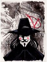 Sketch 065 of 100... V FOR VENDETTA by misfitcorner