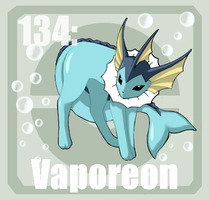 134 vaporeon by Pokedex