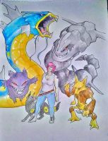 Commission: Pokemon Team WIP by Kempping