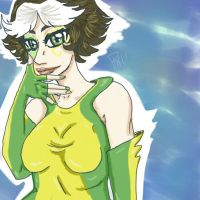 Rogue tablet doodle. by Maivory