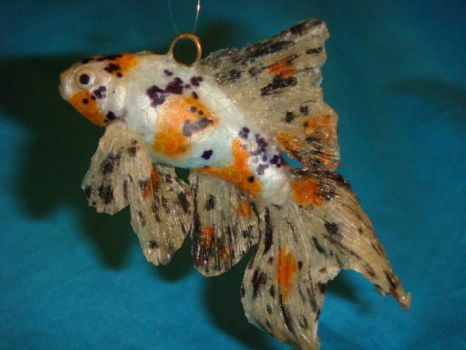 Calico Comet Goldfish by Ethereal-Beings