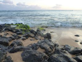 Low Tide on Kauai Beach by MogieG123