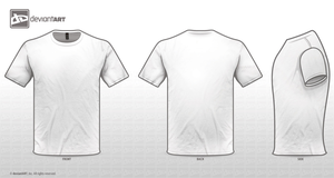 White Tee Templates PNG by sleeprobber