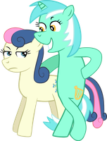 Lyra and Bonbon by Mighty355