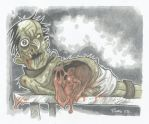 DAY of the DEAD BY AARDMAN BY ME no3 TABLE ZOMBIE by leagueof1