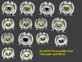 GLaDOS Personality Core 1 by Lefuulei-Art