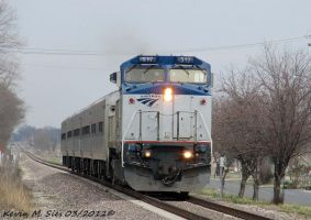 Amtrak 517 leads Amtrak Train 303 by EternalFlame1891