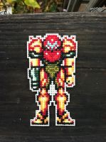 Samus Aran Cross Stitch by kisutra