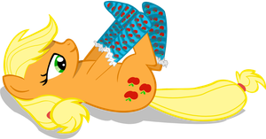 ( scratch):AppleJack getting ready for Winter by RiskyTheArt