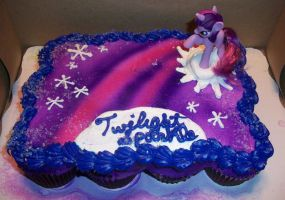 Twilight Sparkle Cake MLPd to by Foxbeast