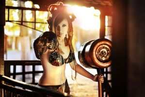 Steampunk airship pirate, cosplay by AnimA89