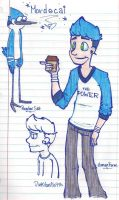 Mordecai: Humanized by PinkVanilla715