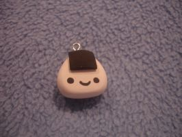 Polymer Clay Kawaii Onigiri (Rice Ball) Charm by PiinkKittyy