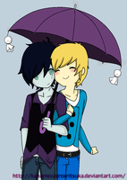 MarshallxFinn Umbrella :3 by SourBears