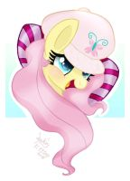 MLP FIM - Fluttershy In A Puffy Hat by Joakaha
