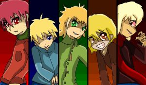 Kyle,Butters,Tweek,Pip and Romer asesinos sin alma by mimizazule06