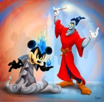 Mickey and Hades Mix-Up by darrinbrege