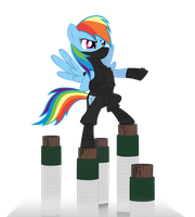 Ninja Rainbow Dash by ls-event