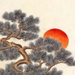 Minwha(Korean Folk art)-Pines and cranes by kimsingu