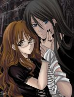 Goth Couple for Goth111 by akome1206