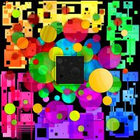 Colors Circles Squares by AbnormalArt