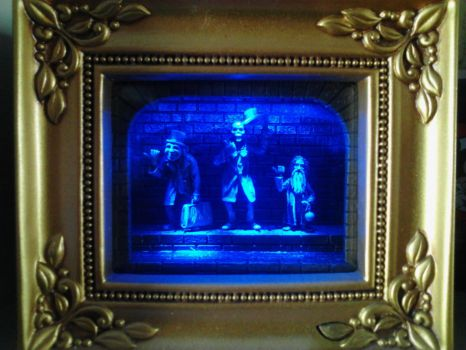 Haunted Mansion light up shadow box by Disneyfan84
