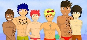 All my male OC's ! ^^ by Kobwa