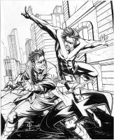 Nightwing vs Jason Todd by 0boywonder0