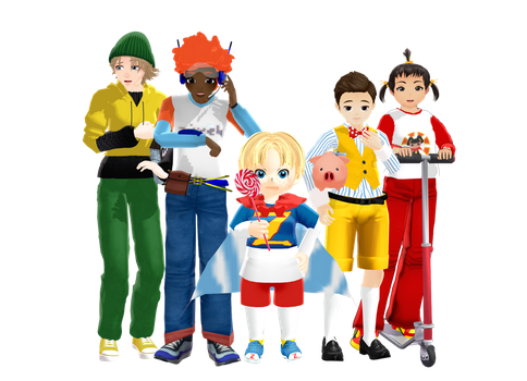 {MMD} The kids of Lazytown (Model Pack Ver. 2 DL) by YikesDepartment