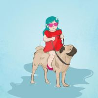 Baby and Pug by ExtremeJuvenile