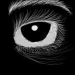 Black And White Creepy Eye by Killerer2708