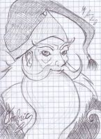 Sketch time Again: Ombric the Wizard by Lauretta-89