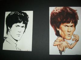 Bruce Lee Portrait-Caricature by DHTenshi