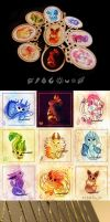 Eeveelution Necklaces! by blix-it