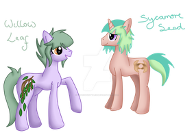 Willow Leaf and Sycamore Seed by CitrusSkittles