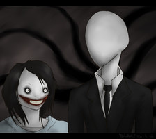 Jeff the Killer and Slenderman by X-x-OcToBeR-x-X