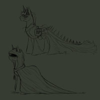 Corrupted Unicorn Concept by Amiookamiwolf