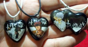 Death Note L, Light and Near Resin pendants by TashaAkaTachi