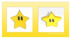 super mario star charm by starprints
