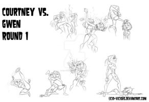 SktDump - Courtney vs. Gwen by Cid-Vicious