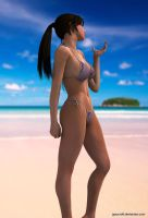 Young Lara on vacation by JpauCroft
