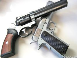 .357 Magnum and .45 - 16 by PxRxSxRx