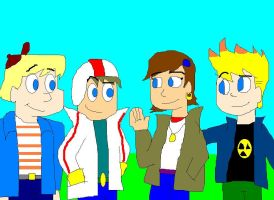 Kick with Gunther, Avery and Johnny by TXToonGuy1037