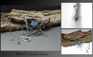 Adain- wire wrapped pendant by mea00